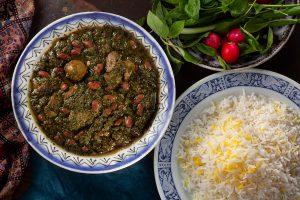 Khoresht-e Ghormeh Sabzi (Herb Stew)
